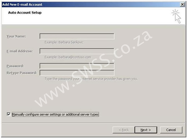Microsoft Outlook 2007 Email Setup