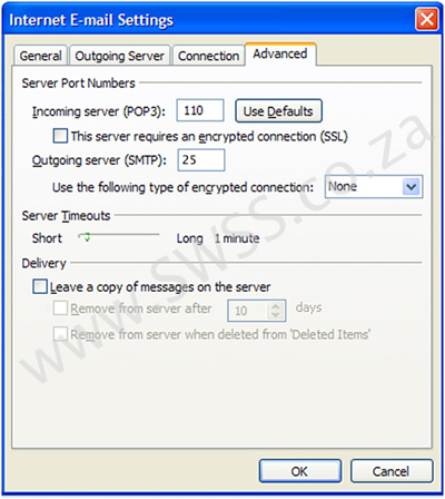 POP3 Preferred - Microsoft Outlook 2007 Email Setup
